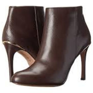 Coach Brown Nappa Leather Nila Booties
